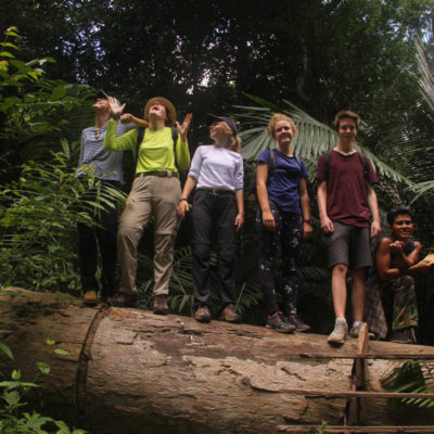 Group photo in the jungle